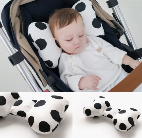Anti Roll Baby Pillow Support To Prevent Flat Head Neck For Newborn With Memory Foam Cushion