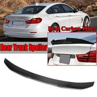 Реальные углеродного волокна багажнике автомобиля задний спойлер крыла для BMW F36 4 серии 4 двери для Coupe 2014 2018 заднее крыло спойлер