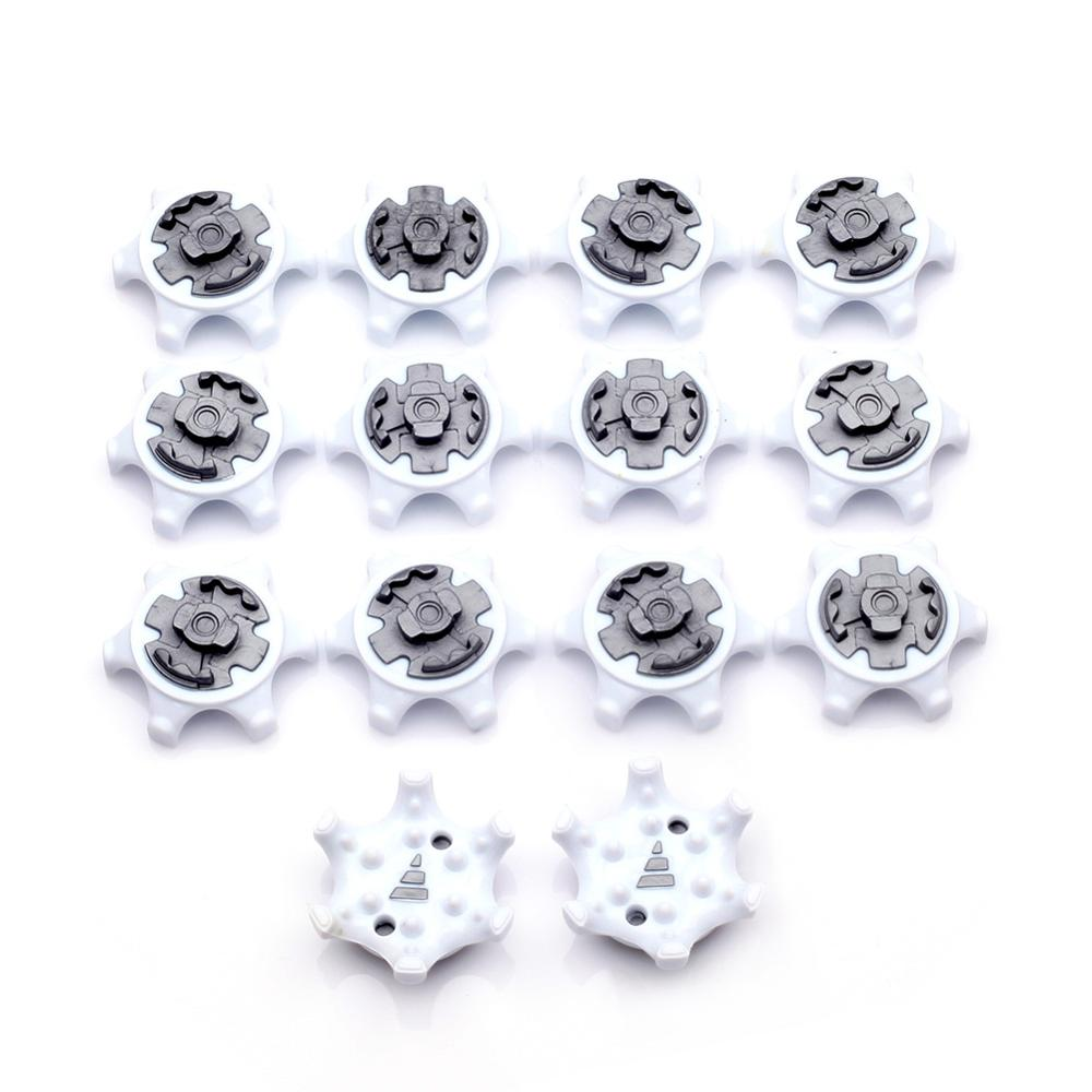 14Pcs Golf Shoe Spike Replacement Cleat Champ Fast Twist Screw Studs Stinger White + Gray Free Shipping
