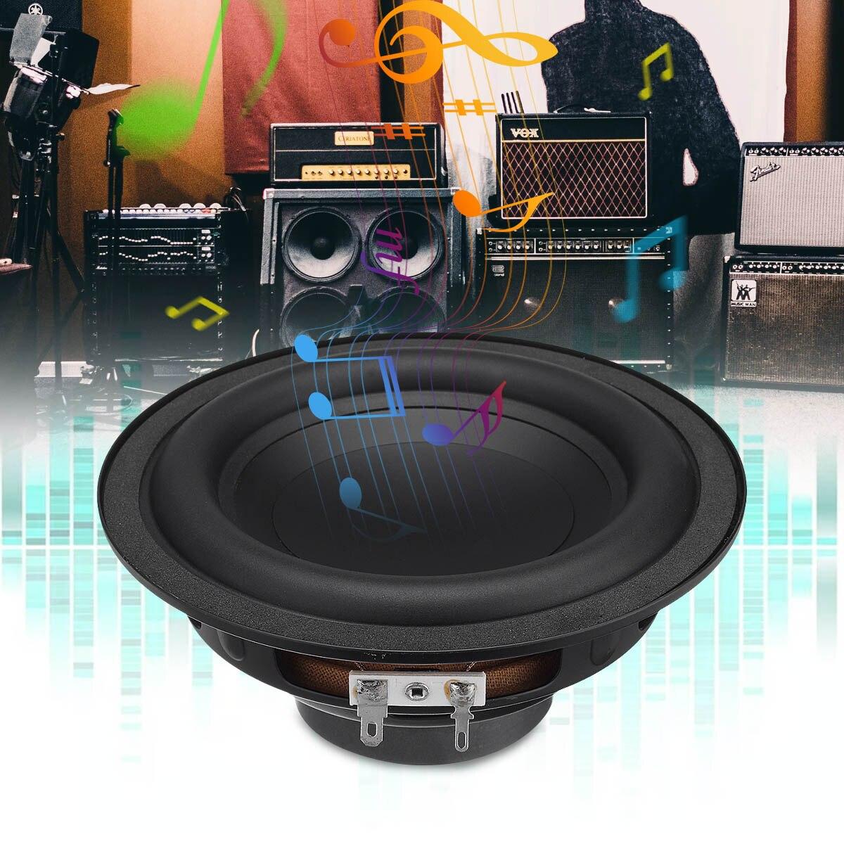 1Pcs 50W 6 Inch DIY Sound Box Loudspeaker Stereo Subwoofer Strong Bass Horn Clear Voice Speaker Trumpet Car Boat Amplify Speaker