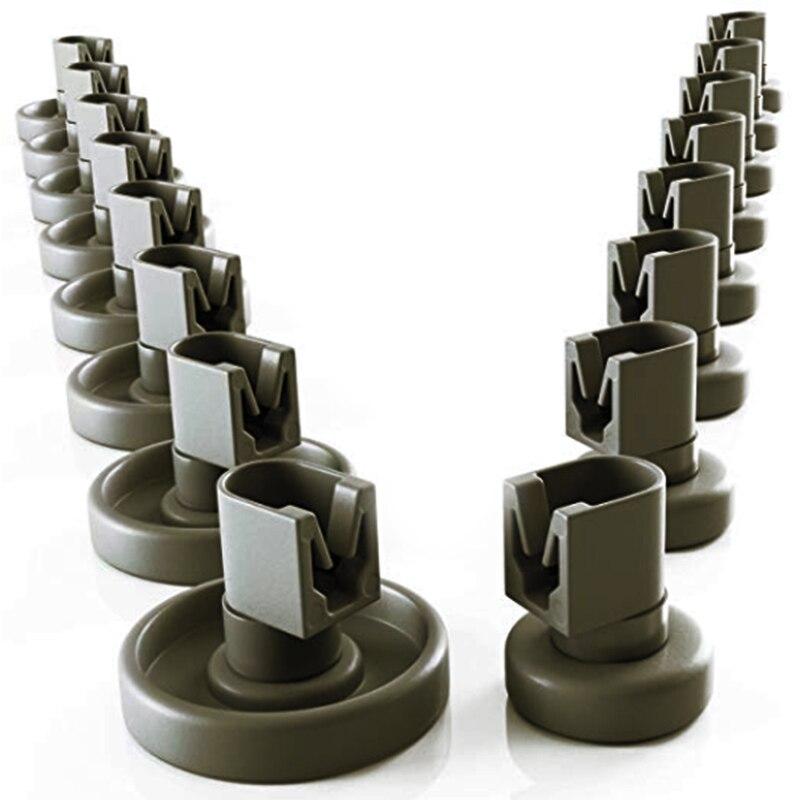 16PCs/Set Dishwasher Spare Part Upper Basket Roller For Dishwasher Suitable Basket Rolls As Accessory / Spare For Dishwasher