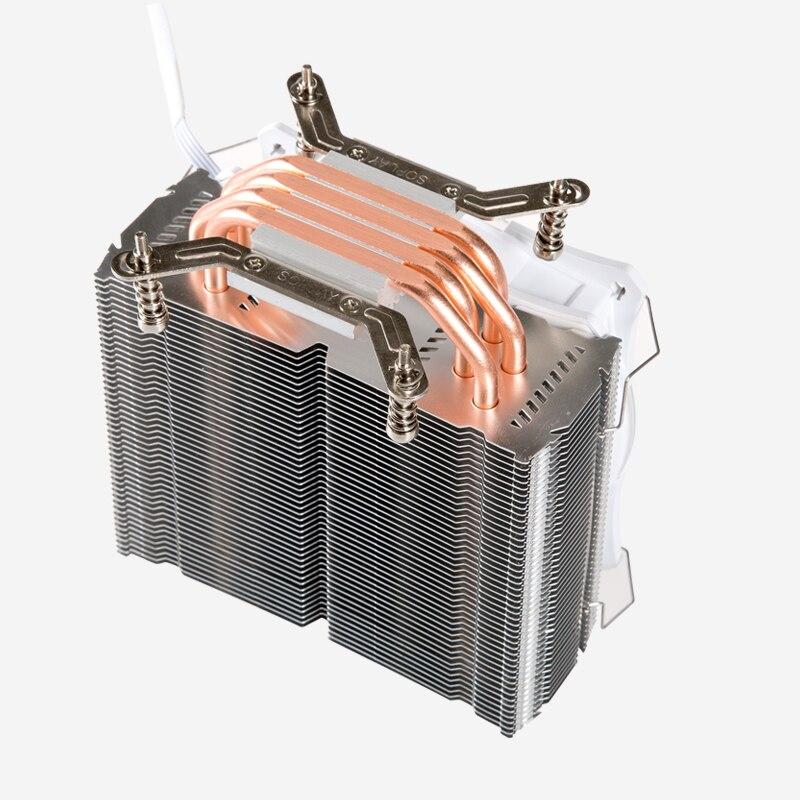 SOPLAY CPU Cooler fan 4 heatpipes 4pin 12cm Fan Aluminum Heatsink for LGA 1150/1155/1156/FM2/FM1/AM4/AM3+/AM2/940/939/754 cooler for cpu crown cm 80 775 1156 1155 1150 1151 am2 am2 am3 am3 fm1 fm2 754 939 940 низкопрофильный