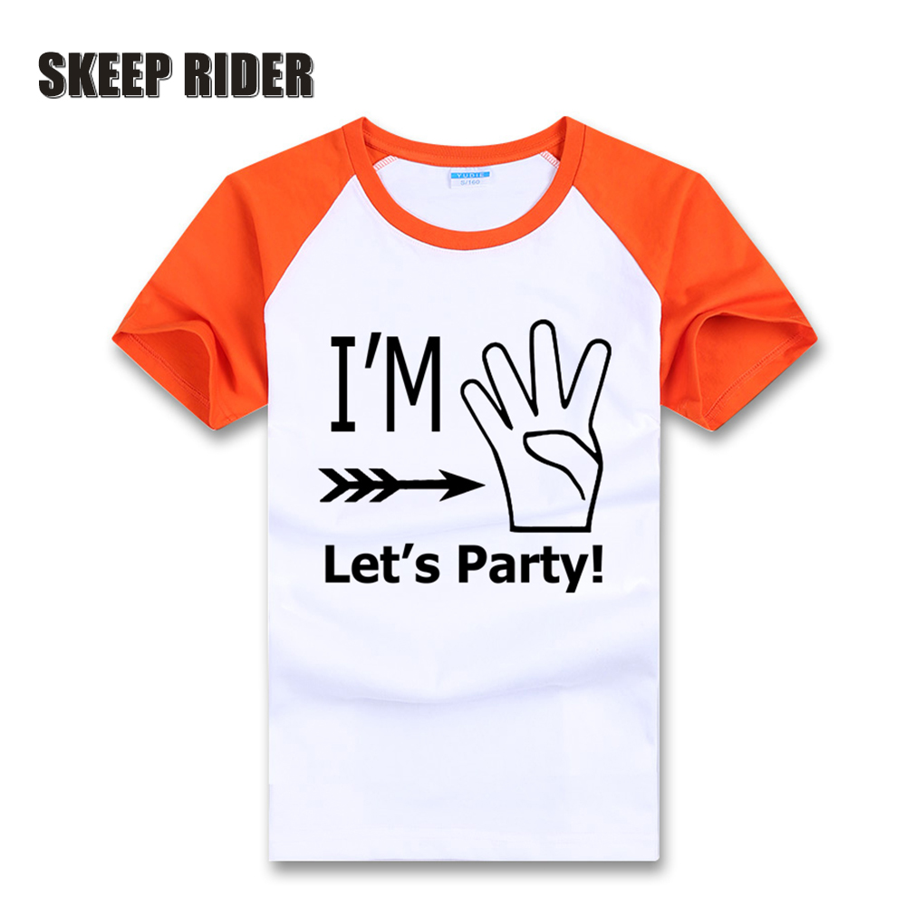 Kids Shirt Birthday-Party-Clothes Short-Sleeve Fingerprint Girls Boys for Hot-Sales