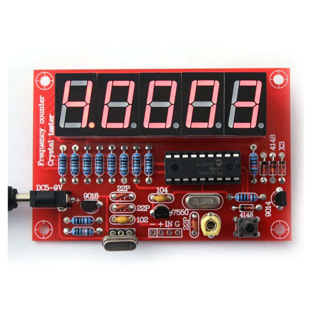 HHO-50 <font><b>MHz</b></font> <font><b>Crystal</b></font> Oscillator Frequency counter Testers DIY Kit 5 Resolution Digital Red image