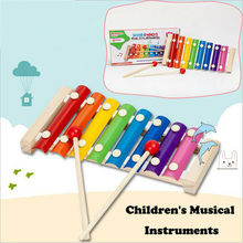 PUDCOCO New Colorful Children's Musical Instruments Cute Kid Baby Xylophone Educational Developmental Wooden Toys(China)