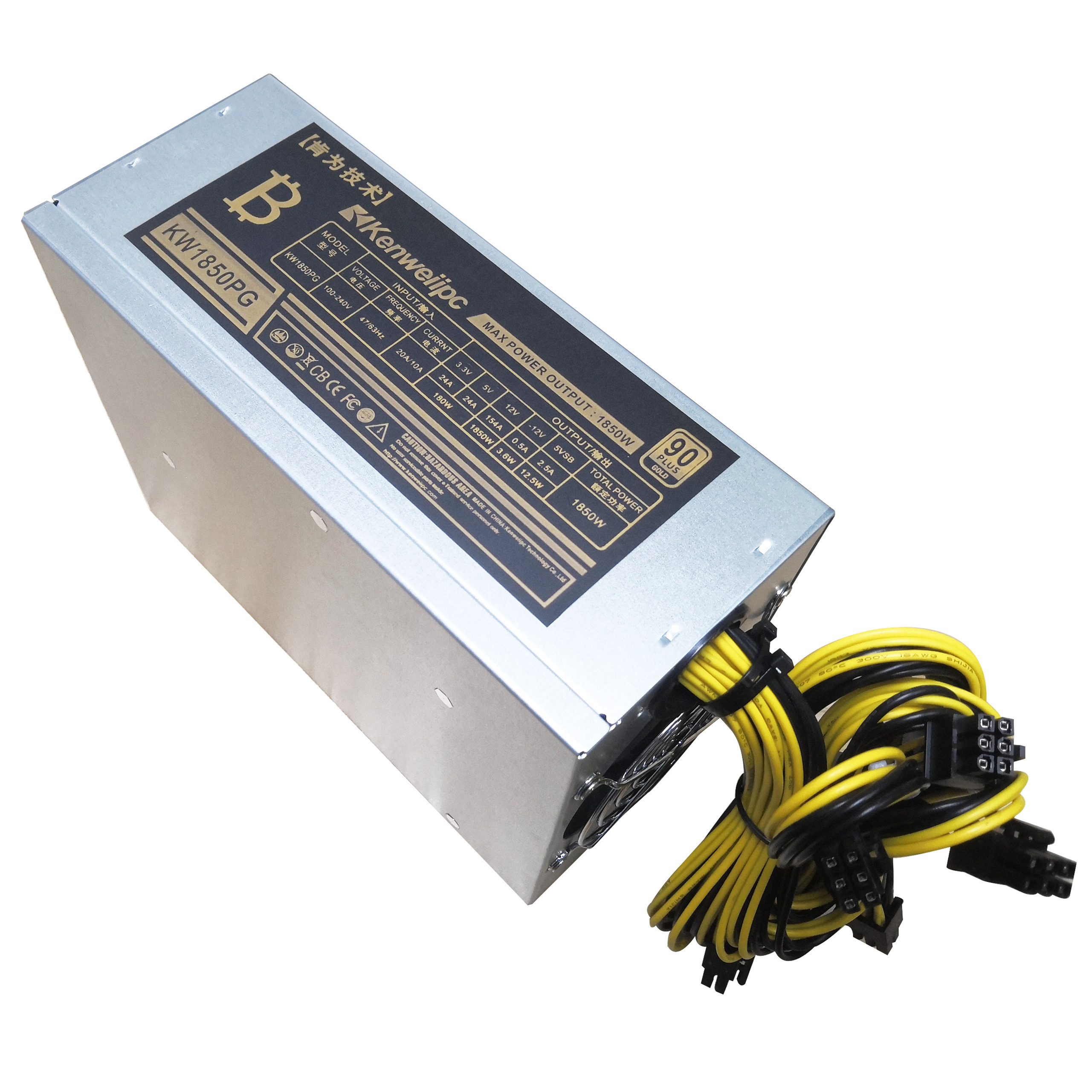 1800W Power Supply Mining Machine 6Pin 12V For Eth BTC Rig Ethereum Coin Miner