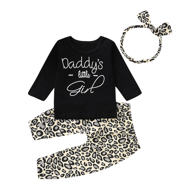 b19398262538 Emmababy Toddler Kids Baby Girl Long Sleeve Casual O-neck Tops Leopard  print Pants Leggings 3Pcs Outfits Clothes