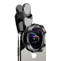 Universal HD Wide Angle Fisheye Lens for iPhone 5 6 6S 7 8 X XS Telephoto Phone Lens Zoom Camera Lens for iPhone Samsung Huawei