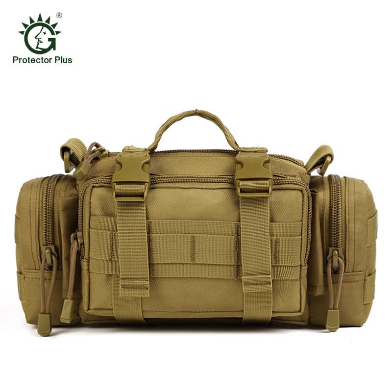 Sac tactique pour hommes de taille pour hommes Sac Fanny Pack Molle Sac de haute qualité en nylon ceinture poche militaire Messenger Bag Chasse taille sac
