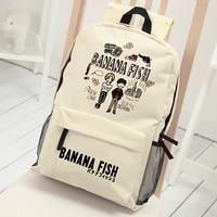 Shudder Murder School Bag Banana Fish Backpack for Middle School Students