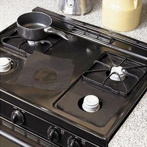 Image 5 - 2pcs/4pcs Reusable Non Stickฟอยล์ช่วงStovetop Burner Protectorฝาครอบสำหรับทำความสะอาดเครื่องมือป้องกัน