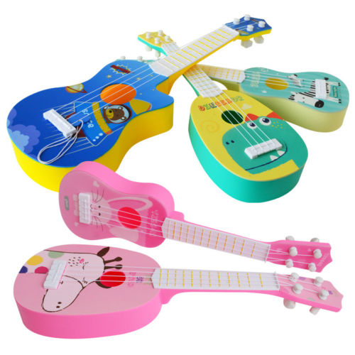 2019 New Kids Mini Simulation Guitar 4 String Practices Musical Education Children Toy Gift