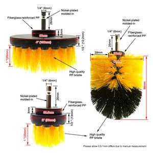 Image 4 - 5 Pcs Car Detail Nylon Brush Set For Car wheel/Engine/home/bath/floor tile Auto Detail Brushes Kit with 2 electric Grinding Disc