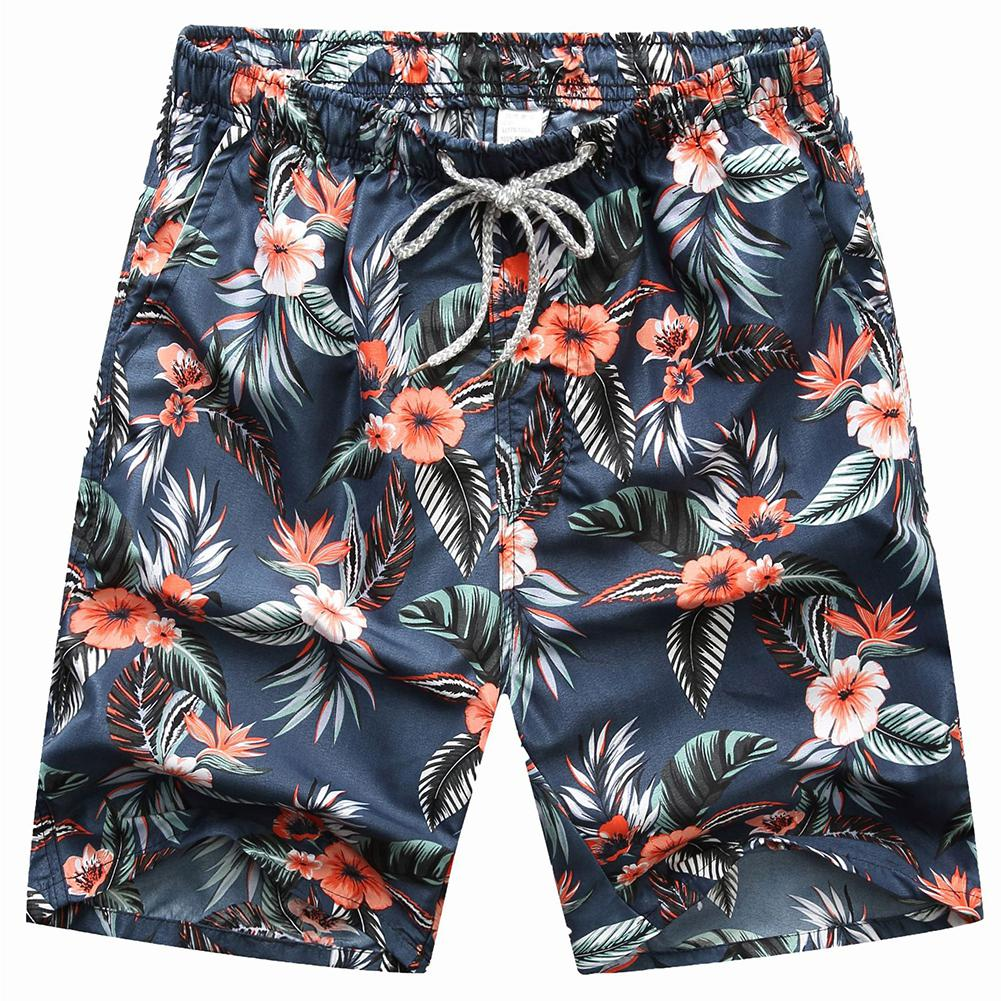 MISSKY New Seobean Floral Mens Board   Shorts   Men Beach Swimsuit   Short   Male Bermudas Beachwear Bathing Suit Quick Dry