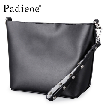 Padieoe 2019 new bags for women messenger bag leather luxury shoulder bag  evening bag fashion crossbody purse vintage girl lady