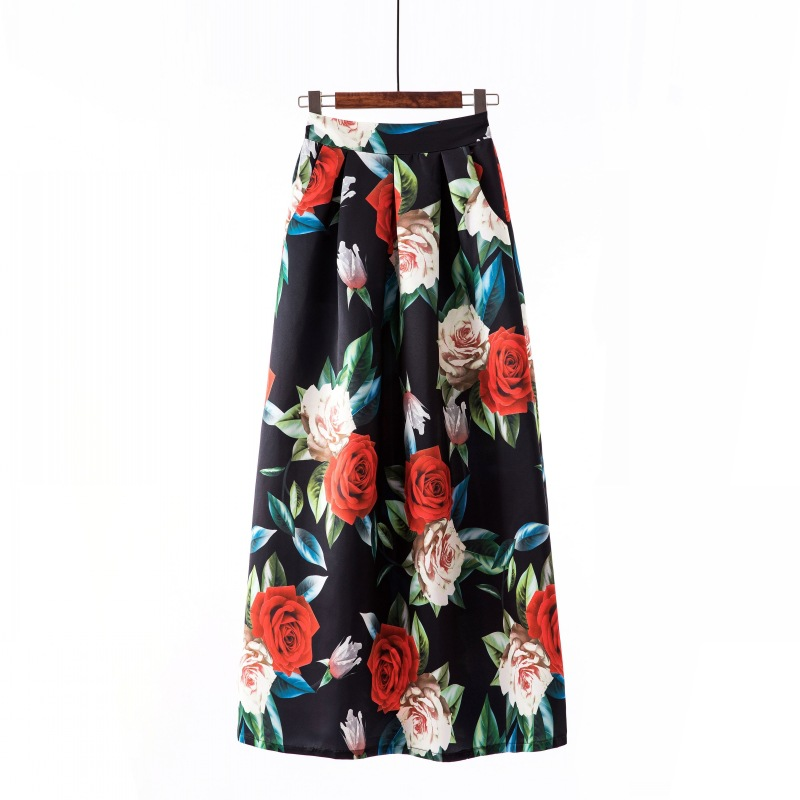 Women Long Maxi Skirt Autumn Summer Skirt Women's Skirts
