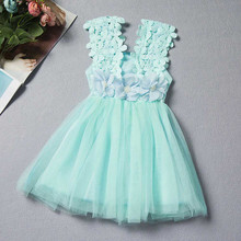 Infant Floral Lace Princess Toddler Dress For Girl Summer Baby Girl Vest Sundress Tulle Birthday Party Kids Casual Wear Dress стоимость