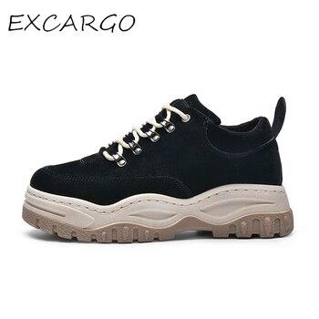 f3908323 EXCARGO повседневная обувь мужские кроссовки на платформе модная обувь для  мужчин 2019 новые летние кроссовки мужские