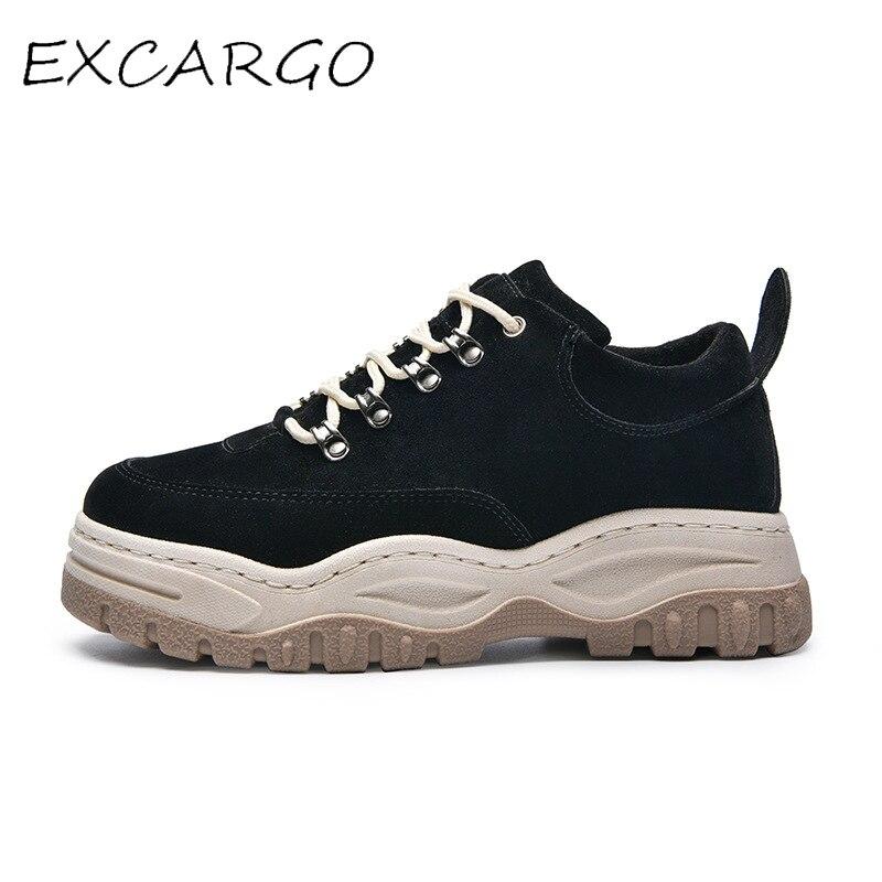 EXCARGO Plataforma Calçados Casuais Dos Homens Das Sapatilhas Sapatos Da Moda Para Os Homens 2019 Novos Tênis Verão Homens Negros Masculinos Confortável Sapato Robusto
