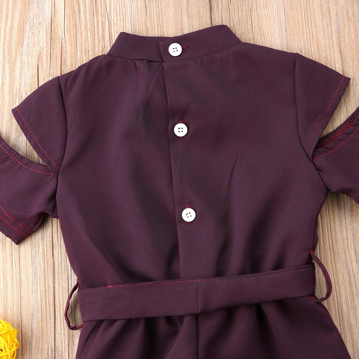 Trendy Kids Baby Girls Holes Romper Bodysuit Jumpsuit Outfits Clothes Playsuit