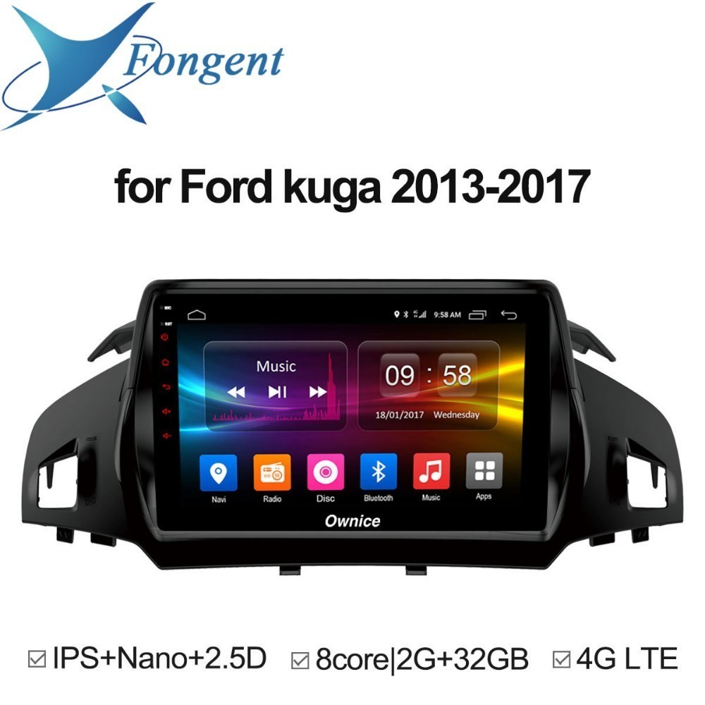 for Ford Kuga 2013 2014 2015 2016 2017 Android 8.1 Unit Car radio Stereo Audio GPS navigator dvd Intelligent Multimedia Player