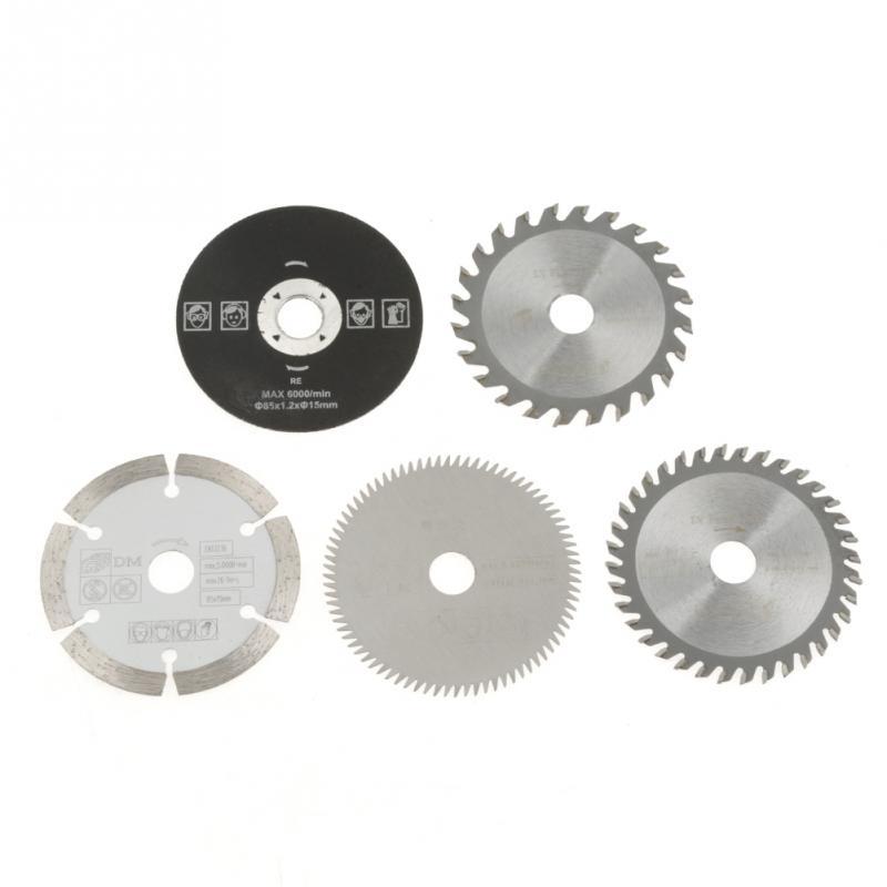 5pcs 85mm Saw Blade 24/36/80 Teeth Inner Diameter 15mm Mini Carbide Circular Saw Blade Multi-function For Wood Cutting Tool Disc