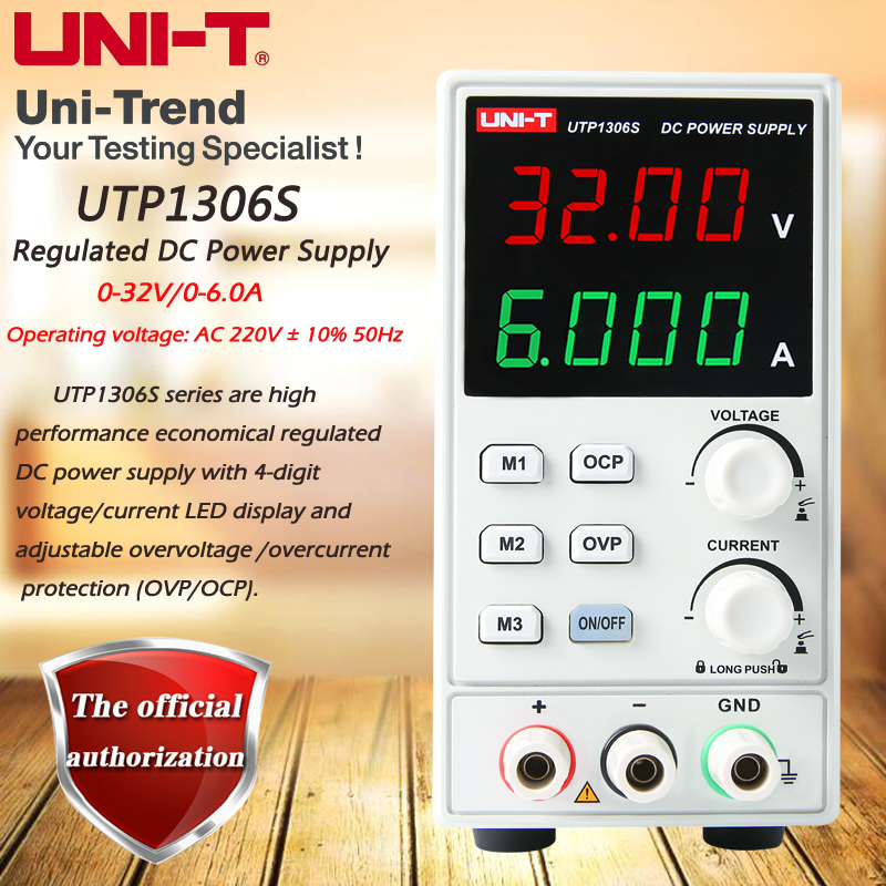 UNI-T UTP1306S Single Output Switching Type DC Regulated Power Supply; 0-32V/0-6A Regulated DC Power SupplyUNI-T UTP1306S Single Output Switching Type DC Regulated Power Supply; 0-32V/0-6A Regulated DC Power Supply