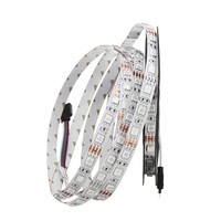 Smuxi 5M 300 LED RGB Strip Light 5050 DC12V 60Leds/M Flexible Light Led Ribbon Tape Home Decoration Lamp Non waterproof