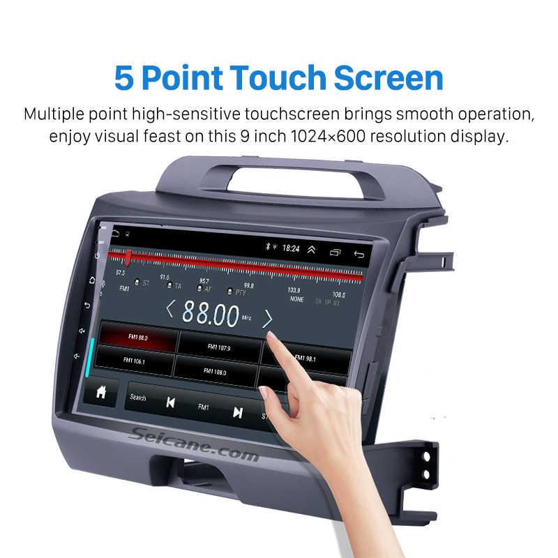 Seicane Android 9,0 2din 9 pulgadas unidad principal WiFi Radio de Audio GPS reproductor Multimedia para 2010, 2011, 2012, 2013, 2014, 2015 KIA Sportage