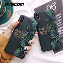 LOVECOM Anti-knock Splicing Phone Case For iPhone XR XS Max 6 6S 7 8 Plus X Soft IMD Banana Leaf Letters Flower Fruit Back Cover(China)