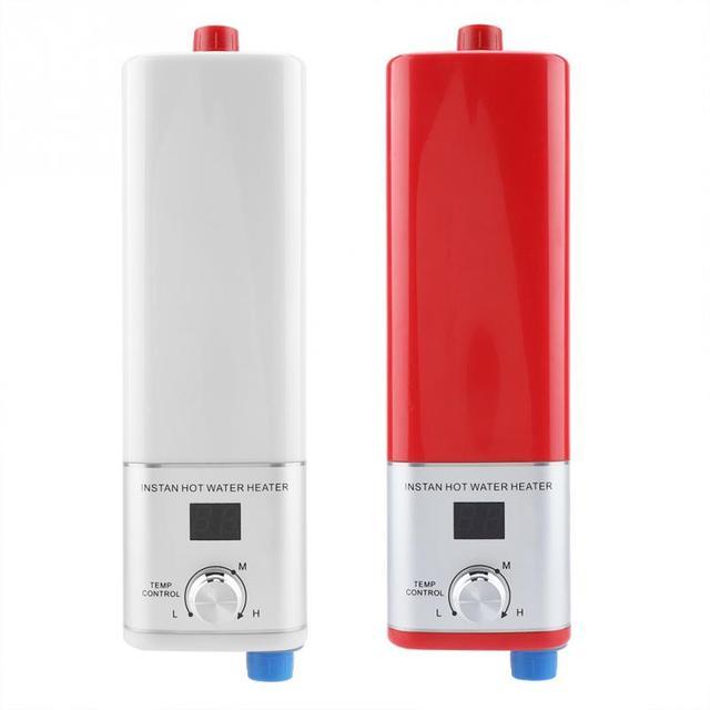 220 v 5500 W Aquecedor De Água display Digital Aquecimento Instantâneo Cozinha Po Elétrico Máquina de Aquecimento de Água para Uso Doméstico