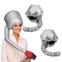 Tampa de secagem de cabelo macio portátil capô chapéu secador de cabelo acessório curl ferramentas cinza seco cabelo creme boné