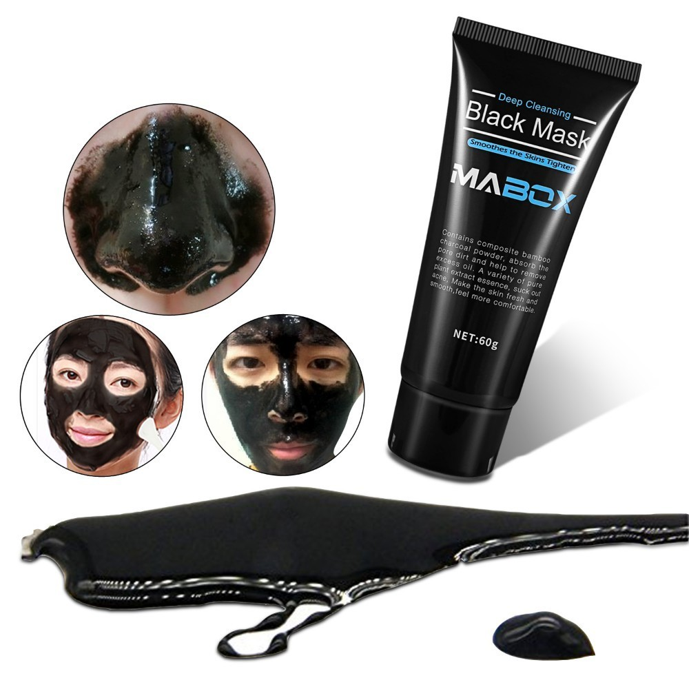 Image 5 - MABOX Bamboo Charcoal Black Mask Face Care Deep Cleansing Purifying Blackhead 3 Steps Black Head Remover Acne Nose Mask-in Treatments & Masks from Beauty & Health