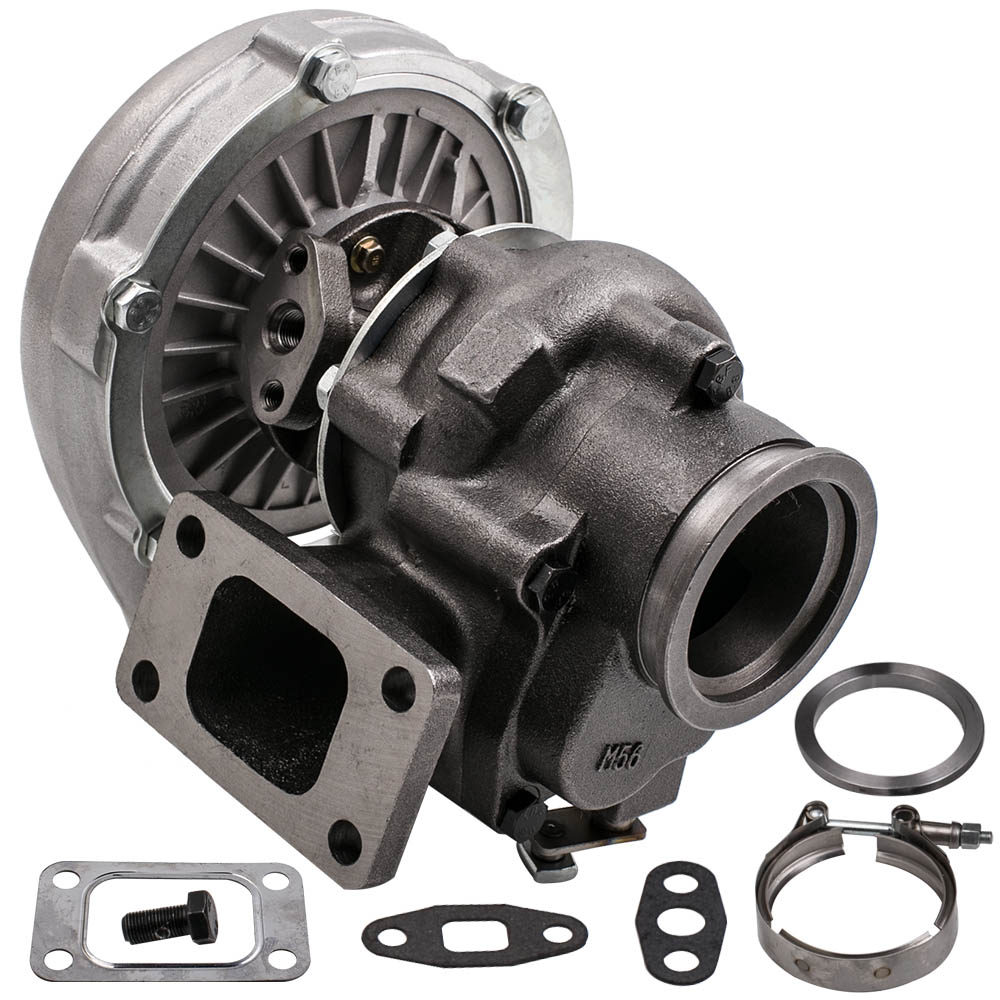 Fit T3 T4 T04E Universal Turbo Charger 420HP Turbine 0.63 A/R 4 bolts Flange Oil Cooled V band Wet Float Fit For Ford Maverick