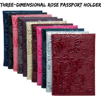 Cute Travel Pu Leather Passport Cover Women Business Credit Card Holder Case Driver License Ticket Wallet Document Organizer