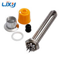 """LJXH 1.2""""Thread Immersion Water Heating Tube DN32 Tubular Heater Heating Element 220V/380V 304Stainless Steel with plug Head Nut"""