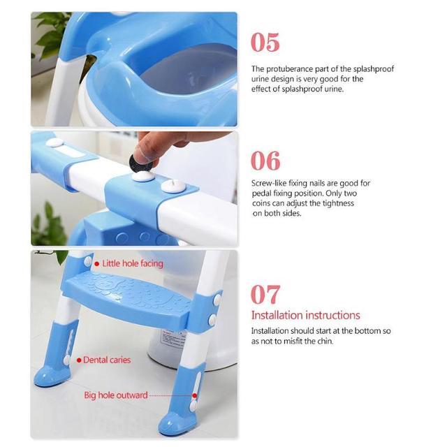 Pot pliant pour bébé avec échelle réglable | Siège dentraînement pour bébés, pots de toilette pour enfants, poignée de sécurité, bol urinoir, pot