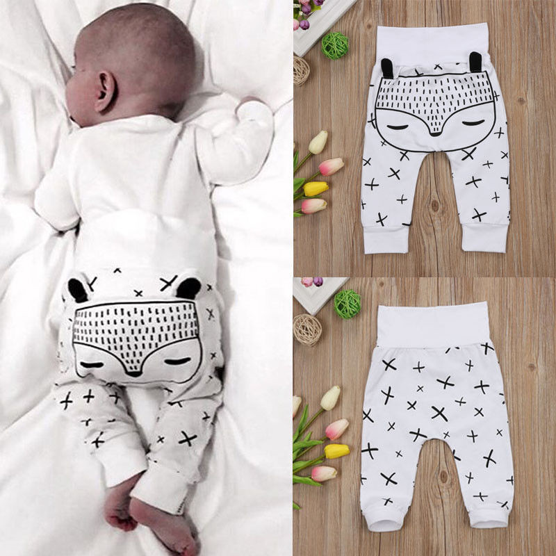 PUDCOCO 0-2T Kids Newborn Baby Boys Girls Long Harem Pants Trousers Leggings Bottoms