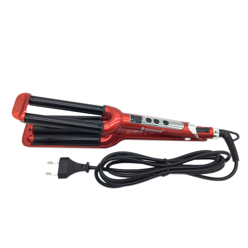 Shinon Hair Curling Iron 3 Barrels Lcd Display Hair Curler Rollers Ceramic Waver Iron Curling Wave Curling Roller Wand StylingShinon Hair Curling Iron 3 Barrels Lcd Display Hair Curler Rollers Ceramic Waver Iron Curling Wave Curling Roller Wand Styling