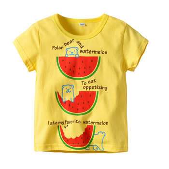Oklady Hot Sale marca niños ropa niños verano niños ropa dibujos animados niños niño ropa T-shit algodón