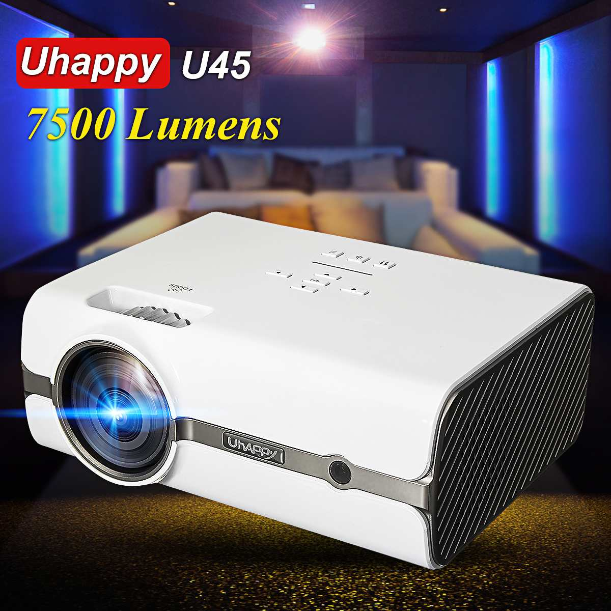 HD 1080P Portable Mini Projector 7500 Home Theater with Internal Cinema USB TV HDMI 3D ProjectorHD 1080P Portable Mini Projector 7500 Home Theater with Internal Cinema USB TV HDMI 3D Projector
