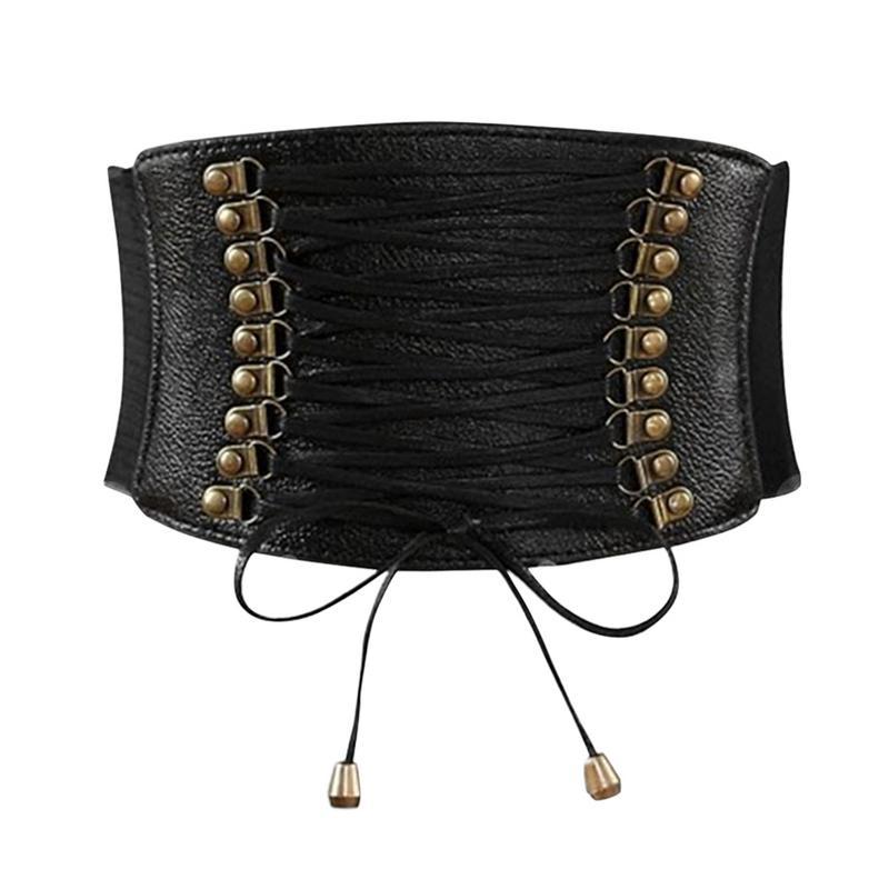 MISS M Wide Waist   Belt   Women Fashion Elastic Tassel Wide   Belt   Dress Ultra Super Strap Tied Corse Wide   Belt   Cummerbund Girdle
