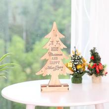 Lighting Wooden Christmas Tree Ornaments Christmas Decoration For Home Shop Window Table Ornament Mini Xmas Tree Decoration