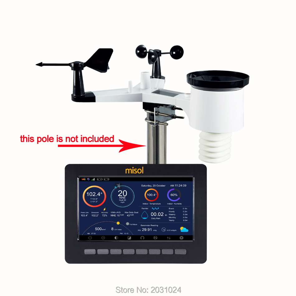 Wireless weather station connect to WiFi upload data to web wunderground