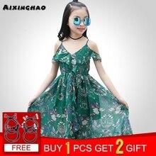 074825f7485 Aixinghao Girls Dress Bohemian Summer Dress For Girls 2018 Casual Girls  Beach Sundress Teenage Kids Teen