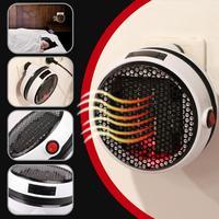 900W Mini Electric Fan Heater Wall Handy Timing Stove Radiator Heater Stove Radiator Warmer Machine for Winter US EU Plug
