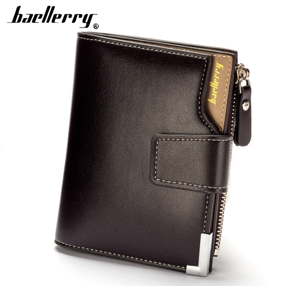 2019 Baellerry Men Wallets PU Leather Short Zipper Card Photo Holder Style Casual Male Wallets Note Compartmen Luxury Men Purses