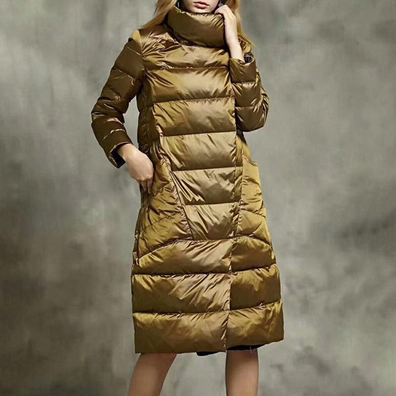 Couvert Chaud Long Usure De Nouveau Double Type golden Feminina Bouton Mode Royalblue E005 Manteau D'hiver Face Veste Jaqueta 2018 Femelle BOnOIwPx