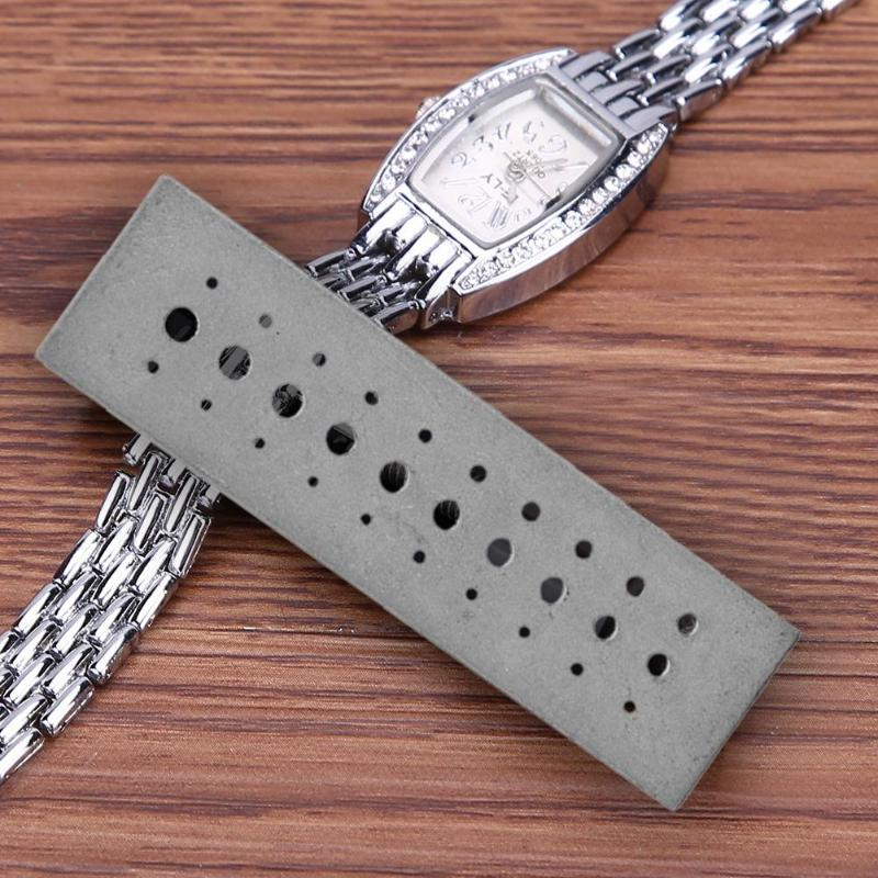 30 Holes Stainless Steel Riveting Stake Tool Punch Block Watch Repair Tool Watchmaker Tools Parts