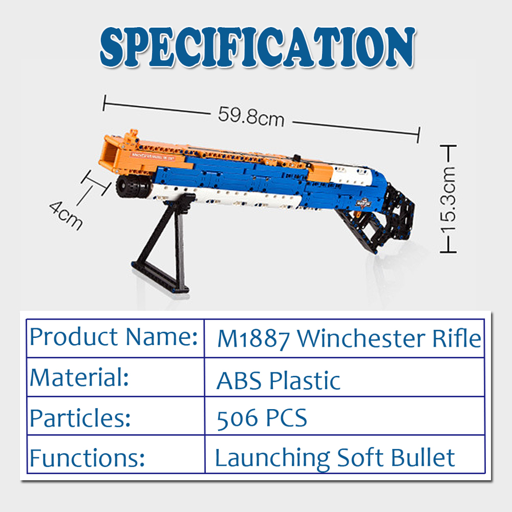 ak47 toy gun toy  gun model 98k gun building blocks bricks educational toys for children boys 1